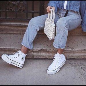 Converse Shoes - White Hi-Top Converse Sneakers